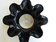 DAVID BOWIE Recycled Record Bowl Let's Dance by RecordsAndStuff, $10.00