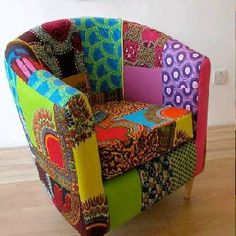 African Print Chair- something to brighten up the Scandinavian winter....