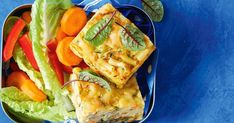 Two kid-friendly favourites – mac 'n' cheese and zucchini slice – combine in this lunchbox filler or easy dinner idea. Bacon Zucchini, Zucchini Slice, Zucchini Bars, Savoury Slice, Mac, Pork Recipes, Weekly Recipes, Savoury Recipes, Zucchini