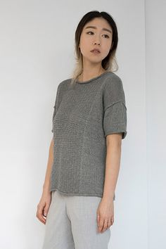 Shibui Knits | Etch, knit with Shibui Linen and Cima held together throughout.