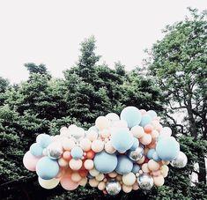 ♔♔♔ Balloon Backdrop, Balloon Ideas, Balloon Garland, The Balloon, Balloon Decorations, Birthday Decorations, Bridal Balloons, Theme Ideas, Party Ideas