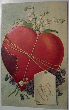 vintage valentine postcard for my February table decoration Make #Hictorical  valentines Collection for you