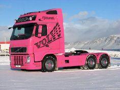 Pretty in Pink Volvo