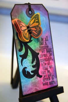 to be all that is possible... Tim Holtz/Papertrey Ink Tag | Color Outside The Lines