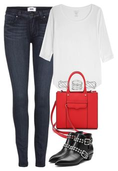 """Untitled #3235"" by keliseblog ❤ liked on Polyvore featuring Paige Denim, Majestic, Rebecca Minkoff, Marc by Marc Jacobs and Dorothy Perkins"