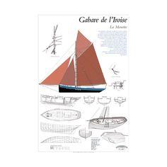 """""""La Mouette"""", gabare de l'Iroise, construite chez Keraudren à Camaret pour les Phares et Balises. plan de modélisme"""
