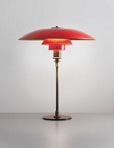 An early Poul Henningsen table lamp, circa (Art Deco) Art Deco Lighting, Vintage Lighting, Modern Lighting, Table Lighting, Light Table, Lighting Design, Lampe Art Deco, Deco Luminaire, Art Deco Design