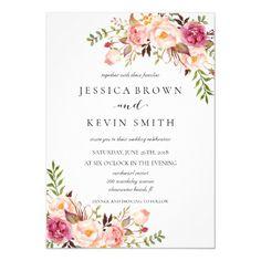 Rustic Floral Wedding Invitation-02updated Invitation