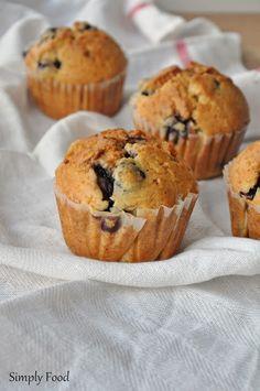 Simply Food: Budyniowe muffinki z borówkami