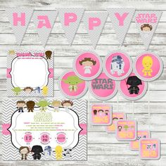PARTY PACK Pink Girls Star Wars Birthday by PicklesAndPosies