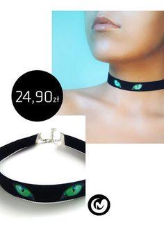 Kup mój przedmiot na #vintedpl http://www.vinted.pl/akcesoria/bizuteria/15704799-choker-zielone-kocie-oczy-czarna-tasiemka-milimoon-cateyes-green-black-naszyjnik