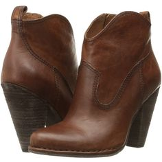 Frye Madeline Short (Cognac Washed Oiled Vintage) Women's Shoes (21.970 RUB) ❤ liked on Polyvore featuring shoes, boots, ankle booties, ankle boots, short leather boots, cognac booties, vintage ankle boots, leather boots and leather ankle booties