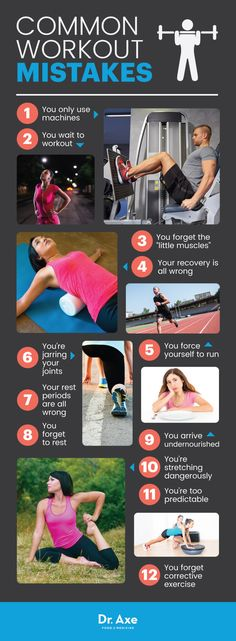 Workout mistakes - Dr. Axe http://www.draxe.com #health #keto #holistic #natural #recipe