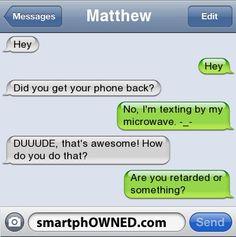 Haha, Alfred and Matthew