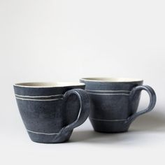 The Large Everyday Cups are part of our new collection of ceramics. These mugs are for people that like a big cup of tea. Stoneware Clay, Ceramic Cups, Blue Cups, Colourful Cushions, Sgraffito, Rustic Charm, Tea Mugs, Beautiful Patterns, Pattern Design