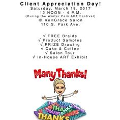 If you are on park Ave today come by for free braids and cake