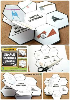 "This ""simple machines"" foldable (petal book) will help your students identify 6 different simple machines that are used in our every day life to make work easier.  This resource may be used with students from 3rd grade to 5th grade. Whole group, small groups or individual instruction.This resource is adapted to address different learning styles and was tested in my classroom."