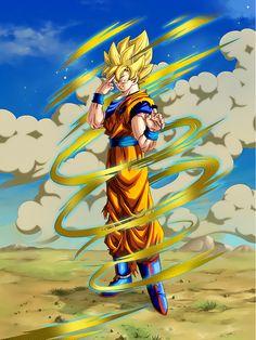 """[The Last Instant Transmission] Super Saiyan Goku """"Bye, guys."""""""