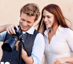 Amanda Righetti & Simon Baker, I love The Mentalist! Love Simon Baker!