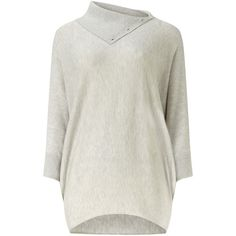 Phase Eight Split Neck Becca Batwing Jumper ($94) ❤ liked on Polyvore featuring tops, sweaters, silver, women, jumper top, phase eight, batwing sweater, split neck sweater and split neck top