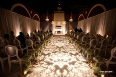 Aisle Style - light-projected patterned floor