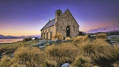 Church of Good Shepherd Situated on the shores of Lake Tekapo is the Church of the Good Shepherd, which, in was the first church built in the. St Columba, Lake Tekapo, The Good Shepherd, City Architecture, National Geographic Photos, Stunning View, Local Artists, Milky Way, Landscape Photos