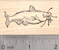 Channel Catfish Rubber Stamp Blue Cat Fish -- For more information, visit image link.