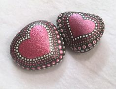 Love & AffectionPainted StoneDot by DotsOfPaintCreations on Etsy