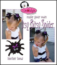Make Your Own Itsy Bitsy Spider Hairbow