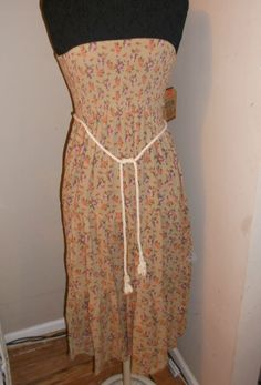 new Country girl sleeveless wear 2 ways sundress xs casual resort  wear tan