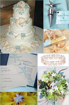 beach theme bridal shower | Beach Wedding Theme Inspirations & Ideas - Brenda's Wedding Blog ...
