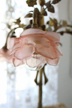 Pretty little bedside lamp.