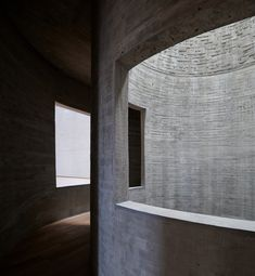 A striking pale-brick volume forms the facade of 'Changjiang Art Museum', a new cultural and community space designed by Beijing firm Vector Architects. The museum. Bamboo Building, Brick Building, Concrete Staircase, Community Space, Urban Fabric, Built Environment, School Architecture, Architect Design, Aphasia