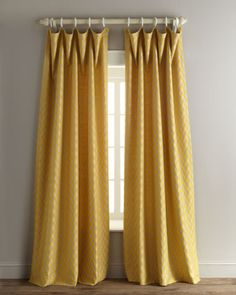 Add some cheer to a room with yellow curtains!