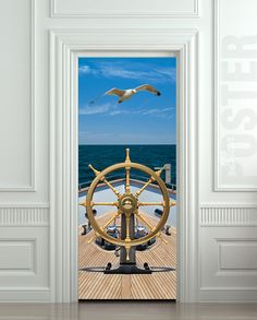 Door STICKER ship sea captain trevel ocean gull bird mural decole film self-adhesive poster cm) / sold by Pulaton. Shop more products from Pulaton on Storenvy, the home of independent small businesses all over the world. Double Sided Sticky Tape, Sea Captain, Peel And Stick Vinyl, Door Murals, Door Stickers, Door Wall, Gull, Painted Doors, Interior Walls