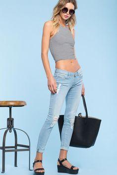 Lance Light Wash Skinny Jeans