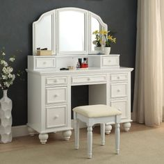 Home Styles Naples 3-Piece White Vanity Set | White vanity set ...
