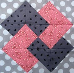 Free Quilt Block Patterns | Starwood Quilter: Card Trick Quilt Block by megan