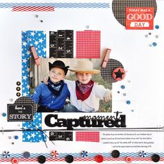 Moment Captured - Scrapbook.com - Use strips of washi tape to create your own background.