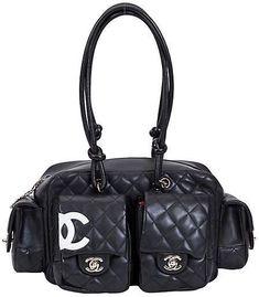 4f1af5f13bdfb One Kings Lane Vintage Chanel Black Reporter Shoulder Bag · Chanel  BlackChanel ChanelShopping ChanelChanel HandbagsDesigner ...