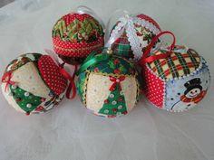 bolas natal tecido - Pesquisa Google