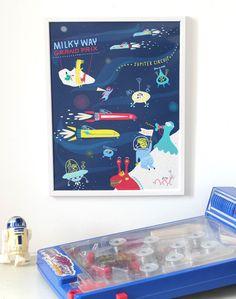 Space Races by Joanna Wiejak - L'Affiche Moderne