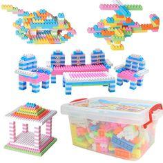 DIY Plastic Assembling Building Blocks Colorful Blocks