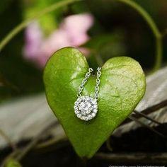 18K White Gold Diamond Halo Necklace (1/2 ct.tw.).  #BrilliantEarth