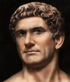 "It looks like he was thinking, ""Come on now, I don't believe a word of it! Ancient Rome, Ancient History, Mark Antony, Pax Romana, Marco Antonio, Roman History, Roman Emperor, Roman Art, Alexander The Great"