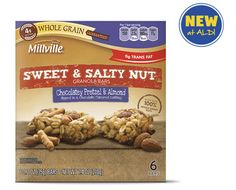 ALDI US - Millville Chocolatey Pretzel & Almond Sweet & Salty Nut Bars