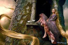 "Taylor Swift as Rapunzel by Annie Leibovitz for Disney Parks' ""Disney Dream Portrait"" series Rapunzel Disney, Princesa Disney Frozen, Real Life Rapunzel, Tangled Rapunzel, Disney Princesses, Real Life Fairies, Annie Leibovitz, Heros Disney, Disney Films"