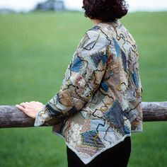 Crazy Patchwork Jacket by Machine. With instructions from Threads Magazine.