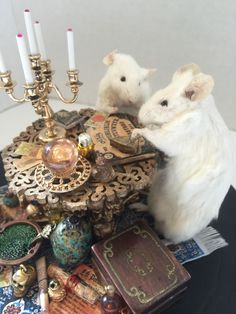 """SALE!!!! Taxidermied Mice """"The Seance"""" Handmade Anthropomorphic Mouse Taxidermy Scene in Dome by CuriousCircus on Etsy https://www.etsy.com/listing/235482765/sale-taxidermied-mice-the-seance"""