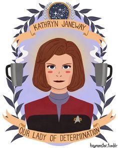 Kathryn Janeway by Heymonster #startrek #voyager
